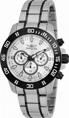 Invicta Specialty 21485 Men's Round Silver Tone Day Date 24 Hour Watch • 4.02£
