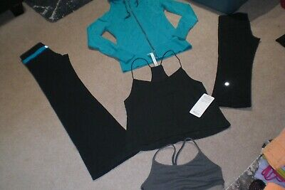 $ CDN85 • Buy  Lot Of Lululemon Groove Pants, Crops, Live Simply Hoodie, Bra And Camisole Sz 6
