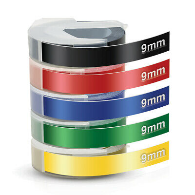 £9.99 • Buy 5PK Dymo 3D 9mm Embossing Tape Compatible For Dymo Junior And Omega Label Tapes