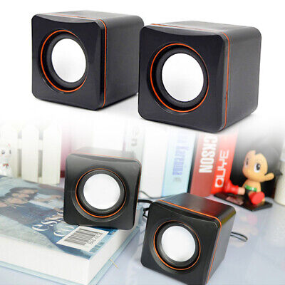 PC Portable Computer Laptop Speaker Multimedia  USB Auxiliary Power Subwoofer • 5.89£