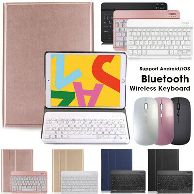 AU23.99 • Buy For IPad 5/6th Gen/Air 4th/Air 2/Pro Bluetooth Mouse Keyboard With Leather Case