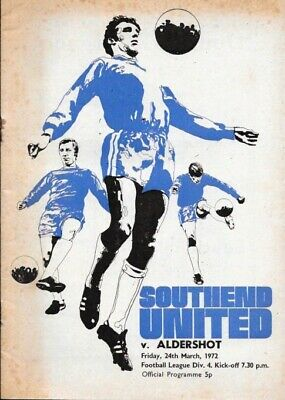 Southend United V Aldershot 71/72. • 2.99£