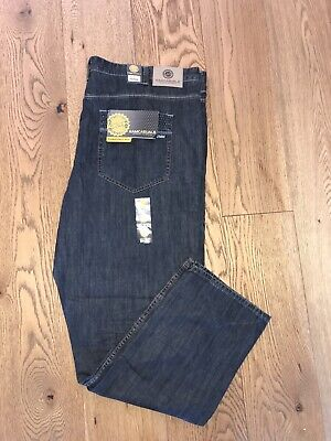 Men's Relaxed Comfort Fit Ringspun Indigo Jeans W50 L32 • 24.99£
