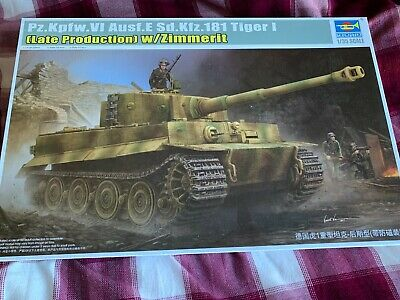 1/35 Trumpeter Tiger I W/Zimmerit Plus 4 Figure Crew In Resin • 29.99£
