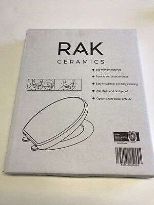 RAK Series 600 Soft Close WC Seat Cover White New In Packaging • 9.99£