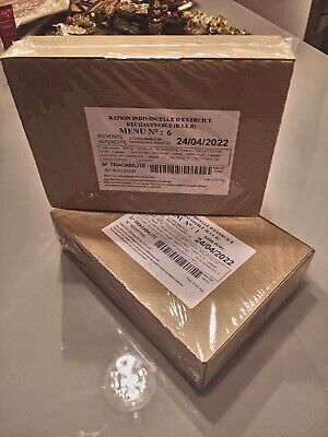$138.98 • Buy NEW MRE French Military Food Ration 8 Hour Emergency/Survival FRANCE BBD 2022