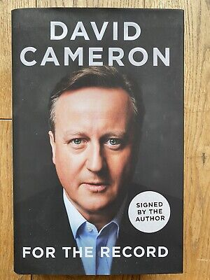 For The Record By David Cameron Signed (2019, Hardback) • 8.99£