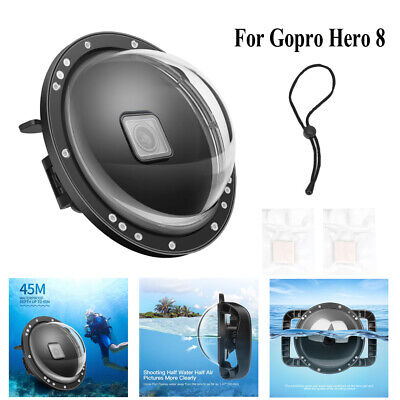 SHOOT Camera Waterproof Cover Underwater Dive Dome Housing Case For Gopro Hero 8 • 45.78£