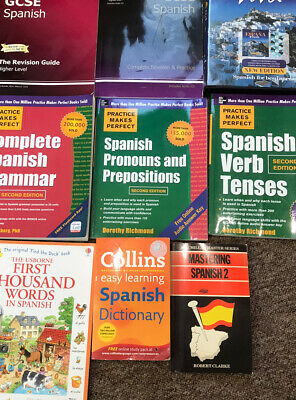 Set Of 9 Spanish Learning Books (including Audio CDs) • 30£
