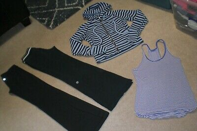 $ CDN85 • Buy Lot Of 2 Pair Of Lululemon Pants, Limited Edition Hoodie And Tank Sz 6