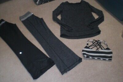 $ CDN85 • Buy Lot Of 2 Pair Of Lululemon Groove Pants, Warm Sweater And Bra  Sz 6