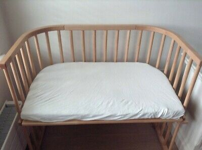 Babybay Maxi Bedside Cot With Unused Custom Made Mattress And Sheets Co-sleeping • 35£
