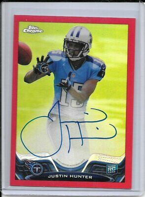 $24.98 • Buy 2013 Topps Chrome Red Refractor Rookie RC Auto Justin Hunter /5 - TEN TITANS
