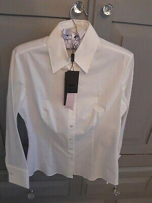 M&S Limited Collection UK 10 Fitted With Stretch White Shirt BNWT Rrp £29.50  • 10.99£