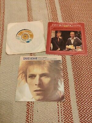 3 X David Bowie Singles, Laughing Gnome, Space Oddity • 1.20£