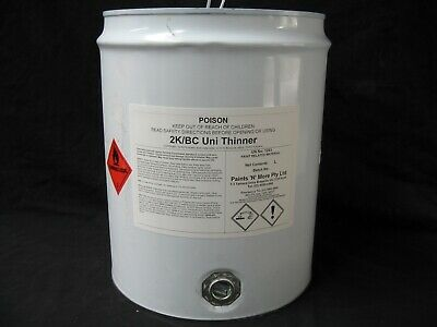 AU150 • Buy Car Paint 20 Litres 2k / Basecoat Universal Thinner / Reducer