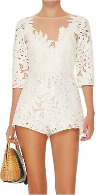 AU72 • Buy Alice McCall Rumours Playsuit White Lace Pattern Size 8 BNWT