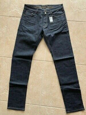 AU50 • Buy Mens Massimo Dutti Blue/black Denim Jeans Size 32