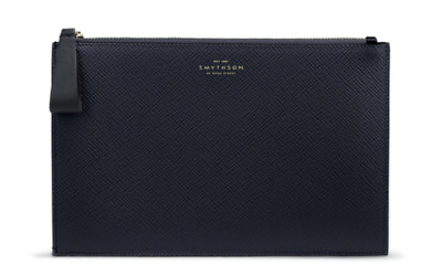 Smythson Of Bond Street Panama Gusseted Pouch RRP £275 • 97£