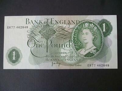 1970 £1  J B Page One Pound Note Uncirculated Condition. Duggleby Ref.b322 • 6£