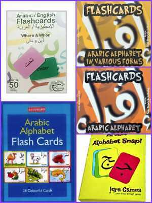 £4.99 • Buy Arabic Alphabet Flash Cards Snap Various Forms Learning Arabic Age 2 To 7