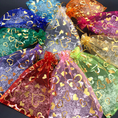 $ CDN5.89 • Buy Lots Organza Gift Bags Jewelry Drawstring Bags Wedding Favors Pouch Supplies