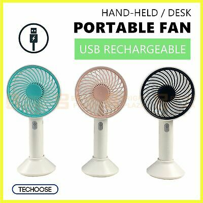 AU17.95 • Buy Portable Hand Held Fan USB Rechargeable Electric Fans Desk Cooler Outdoor Home