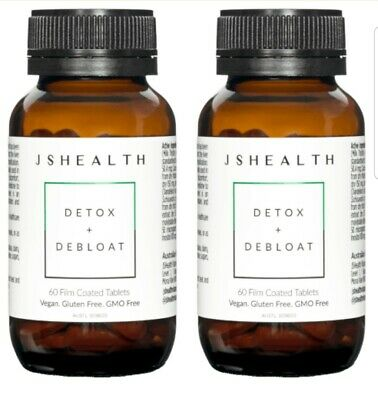 AU69 • Buy X2 JS HEALTH Detox Plus Debloat 60 Caps RRP $89