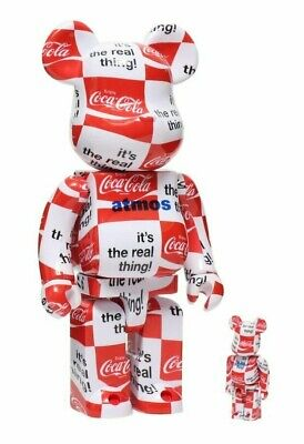 $399 • Buy Atmos Coca Cola 100+400% Bearbrick Checkerboard Authentic RARE Medicom US Seller