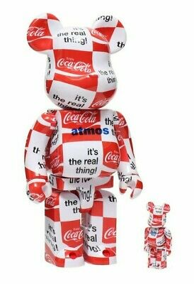 $379 • Buy Atmos Coca Cola 100+400% Bearbrick Checkerboard Authentic RARE Medicom US Seller