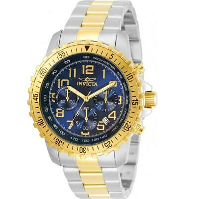 Invicta Specialty 30793 Men's Blue Dial Two-Tone Chronograph Tachymeter Watch • 0.72£