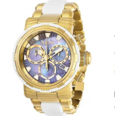 Invicta Specialty 28797 Men's Round Two Tone Chronograph Mother Of Pearl Watch • 0.72£