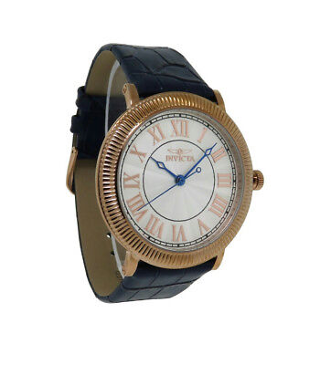 Invicta Specialty 14859 Men's Round Roman Numeral Rose Gold Tone Leather Watch • 0.72£