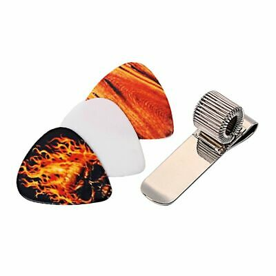 $ CDN17.66 • Buy Guitar Picks Holder Clip Metal Acoustic Guitar Pick Clip 3pcs Picks Set