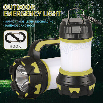 AU24.93 • Buy LED Light Lamp Lantern Camping Hiking Tent Outdoor Phone USB Rechargeable Power