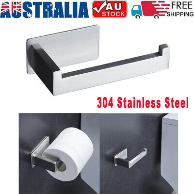 AU16.89 • Buy Self Adhesive Wall-Mount Bathroom Toilet Paper Holder Rack Tissues Roll Stand AU