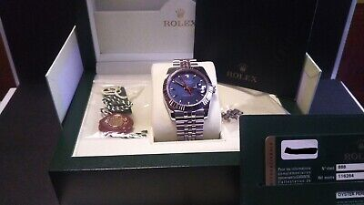 $ CDN11252.34 • Buy Rolex Datejust Turnograph 116264 Blue Dial Stainless Box Paper Rare