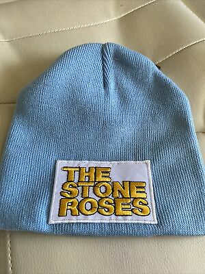 £9 • Buy Stone Roses Adults Sky Blue Beenie Hat 100% Acrylic