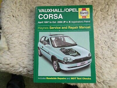 VAUXHALL CORSA Haynes Service And Repair Manual 1997 To 2000 Petrol Models 3921 • 5.99£
