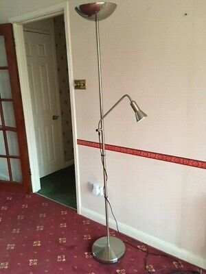 Modern Floor Standing Mother And Child Reading Lamp Chrome • 25£