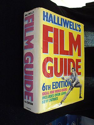 Halliwell's Film Guide:6th Edition:1987:film/movie Reference Guide:hardback:rare • 2.50£