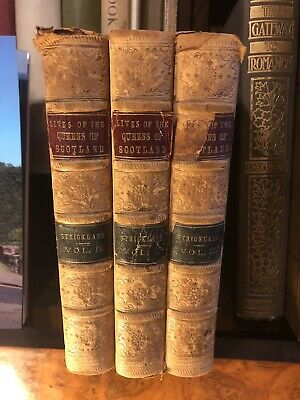 £50 • Buy 1852 Mary Stuart : Queens Of Scotland : Mary Queen Of Scots : 3 Volumes