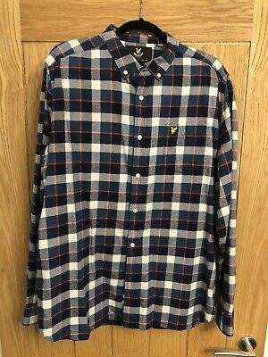 Mens Lyle And Scott Long Sleeved Checked Shirt Size XL • 12£