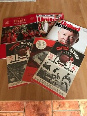 Manchester United Football Programmes  X 5,good Condition !! • 8.99£