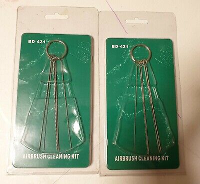 £3 • Buy 2 Packs 5PC Airbrush Cleaning Needle Rods Wires BD-431