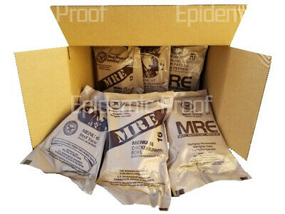 $56.99 • Buy 6 MRE Sampler Box [2022 Inspection Date] AUTHENTIC US MILITARY MEAL READY TO EAT