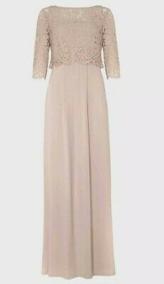 AU57.77 • Buy Phase Eight Bridesmaid  Special Occasion Maxi Dress Size 12 BNWT Pale Pink Lace