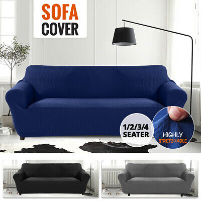 AU24.99 • Buy Sofa Cover High Stretch Slipcover Couch Lounge Covers Protector 1/2/3/4 Seater