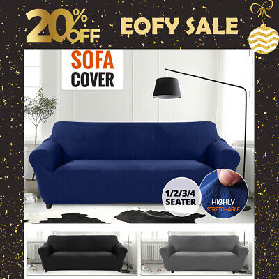 AU32.99 • Buy Sofa Cover Slipcover Protector Couch High Stretch Lounge Covers 1/2/3/4 Seater