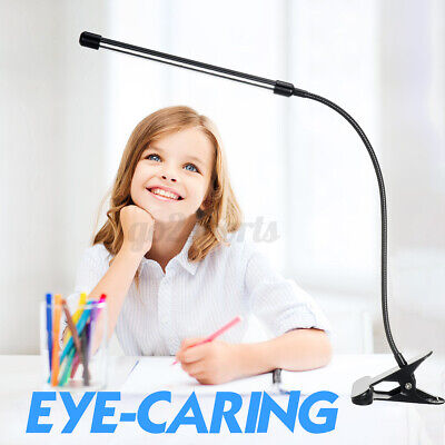 AU17.98 • Buy  Clip On LED Desk Lamp Eye Care USB Power Study Dimmable Light Adjustable